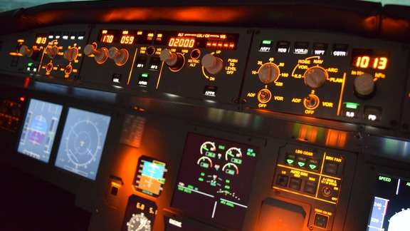Fly on a professional flight simulator
